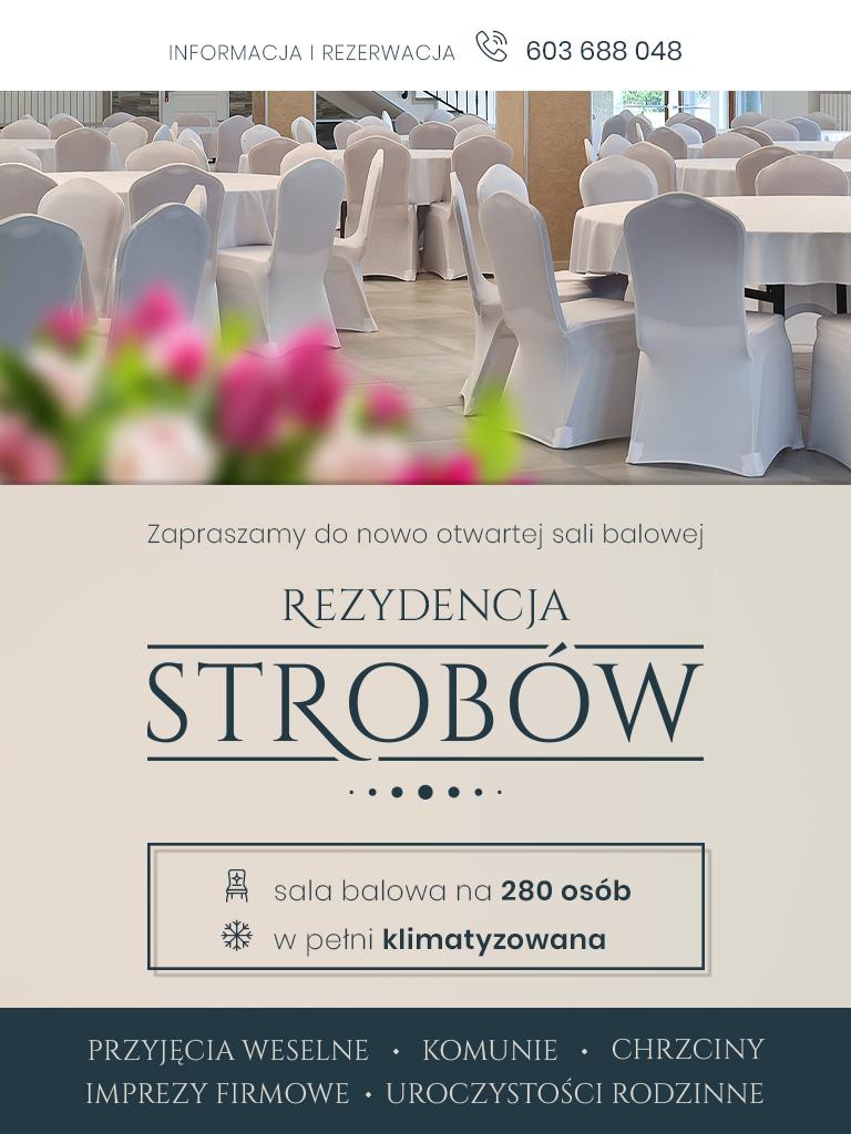 sala weselna w Strobowie koło Skierniewic